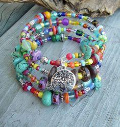 Layered Turquoise Bracelet Southwest Bracelet by | http://bracelet958.blogspot.com