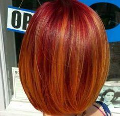 Trendy Hair Color Flamboyage Natural 61 Ideas - New Site Fall Hair Colors, Red Hair Color, Cool Hair Color, Curly Hair Styles, Natural Hair Styles, Dyed Natural Hair, Dope Hairstyles, Looks Style, Ombre Hair