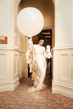 giant white balloon with large tassel tail by bubblegum balloons   notonthehighstreet.com