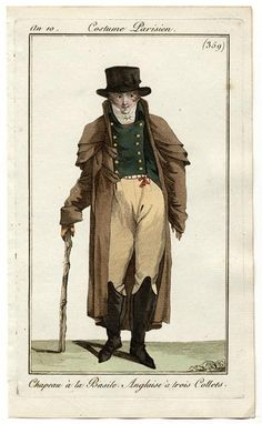 Journal des Dames et des Modes, 1801.   Charming fellow in a complicated outfit!