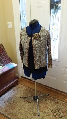 Upcycled Leopard Print Cardigan