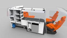 Ford Transit Custom Camper, Custom Camper Vans, Minivan Camper Conversion, Bed Boards, Truck Bed Camping, Door Table, Types Of Beds, Under Bed