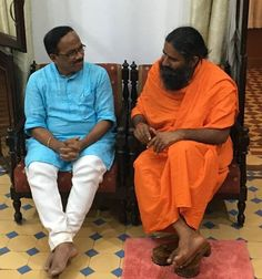 Baba Ramdev Discussed various ideas to spread yog and ayurveda in the state with Goa CM Shri Laxmikant Parsekar ji.