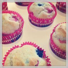 Blueberry-Strawberry Muffins