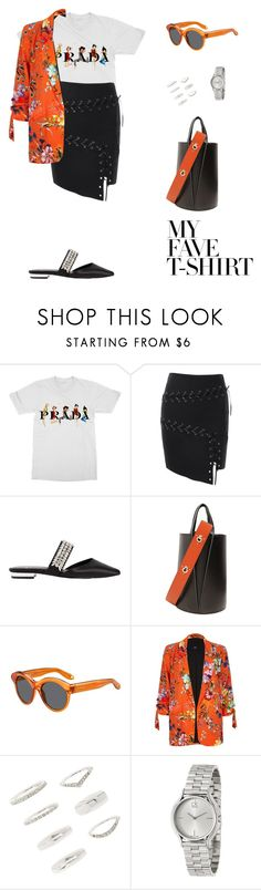 """Dress up a T-shirt!"" by sebolita ❤ liked on Polyvore featuring Prada, Suecomma Bonnie, Danse Lente, Givenchy, River Island, Forever 21 and Calvin Klein"