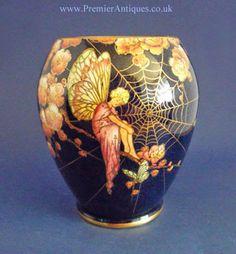 Premier Antiques: May 2014 Royal Winton Fairy cobwebs vase c 1935