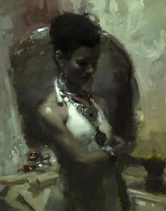 """""""Modesty"""" - 11 x 14 in. - Oil on Panel"""
