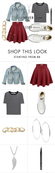 """""""Sin título #112"""" by daleniadalenia on Polyvore featuring moda, Hollister Co., T By Alexander Wang, Converse, GUESS y NYX"""