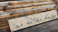 Check out this item in my Etsy shop https://www.etsy.com/ca/listing/236747774/wooden-display-with-hooks-30x6-add