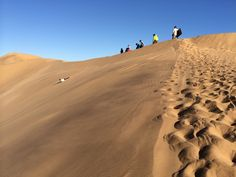 In the past 15 years, destinations with impressive dunes—some taller than the Empire State Building—have become meccas for the new-ish sport of sandboarding (also known as dune surfing). Here are five must-ride destinations for dune surfing enthusiasts. Adventure Tours, The Other Side, Amusement Park, Stunts, Cape Town, Empire State Building, Dune, Touring, Country Roads