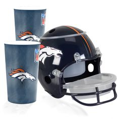 Paquete de Casco Botanero Broncos de Denver NFL