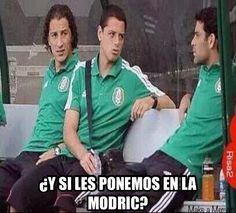 ¿Y si les ponemos en la modric? #memes #méxico #mundial2014 #brasil2014 #español #futbol #MEX - #CRO
