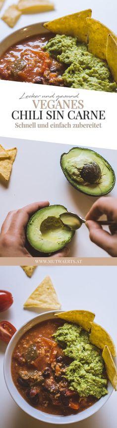 Manchmal fehlt dir einfach die Zeit und Lust, lange in der Küche zu stehen? Du willst dich aber trotzdem gesund ernähren? Und lecker soll es auch sein? Dann ist dieses schnelle einfache Rezept für veganes Chili sin Carne genau das Richtige für dich!