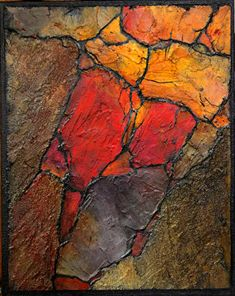 Geologic Abstract Demo II, 121317 by Carol Nelson Acrylic ~ 10 inches x 8 inches