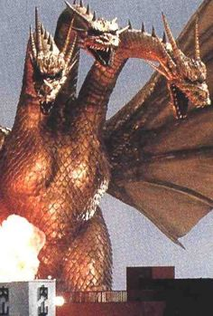 "King Ghidorah.  King Ghidorah's name is composed of ""King"" (キング Kingu?) and ""Ghidorah."" The ""Ghidorah"" part of King Ghidorah's name comes from the Japanese word for ""hydra"" (ヒドラ Hidora), which is spelt very similarly to the Japanese katakana for Ghidorah. He wasn't referred to as ""King Ghidorah"" in an original American release of one of his movies until Godzilla vs. Gigan."