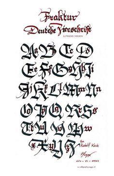 letras goticas cursivas para descargar - Buscar con Google ...