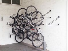 The Cyclehoop Vertical Bike Rack Is An Affordable And Space Saving Home Bike  Storage Solution.