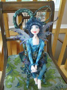 OOAK Fairy Doll September Brithstone  by bohobutterflydolls, $70.00