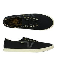 new product 473c1 33ef1 Vans Womens Dixie Twill Sneakers blackt 95   Continue to the product at the  image link
