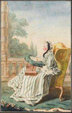 Portrait de Louise Henriette Gabrielle de Lorraine, princesse de Bouillon, 1760 Louis Carrogis dit Carmontelle
