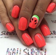 Watermelon nails..
