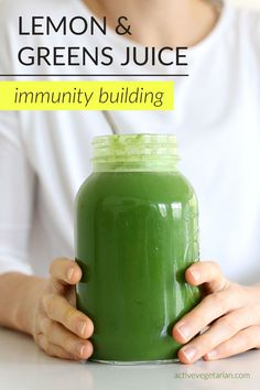 This health tonic is a combination of several alkalizing and refreshing plants that will give your immune system a natural boost. The greens are packed with chlorophyll to promote healthy red blood cells while the lemon and ginger are immunity powerhouses Limoncello, Health Tonic, Smoothie Recipes, Smoothie Detox, Vegan Smoothies, Green Smoothies, Juice Recipes, Drink Recipes, Plant Based Diet