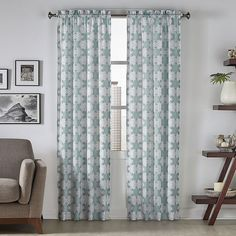Pairs To Go 2-pack Kesey Curtain (275 CNY) ❤ liked on Polyvore featuring home, home decor, window treatments, curtains, light grey, pair curtains, light gray curtains, rod pocket curtains, twin pack and light grey curtains