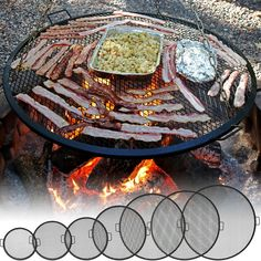 Sunnydaze X Marks Outdoor Fire Pit Cooking Grill Grate. Creates perfect grill marks on food without any hassle. Enjoy an evening of grilling with this cooking grate! X-marks fire pit cooking grill for tripod or placing on fire pit. Fire Pit Grill Grate, Fire Pit Cooking Grill, Diy Fire Pit, Fire Pit Backyard, Cooking On The Grill, Best Fire Pit, Fire Pit Food, Camping Fire Pit, Desert Backyard