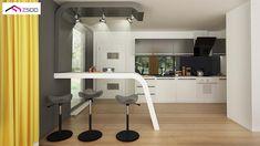 Gotowy projekt domu Z378 - Parterowy dom z garażem dwustanowiskowym. Casa Top, Corner Desk, New Homes, Table, House, Furniture, Home Decor, Projects, Corner Table