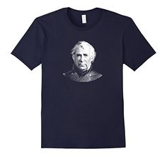 Men's President Zachary Taylor T-Shirt  2XL Navy War Is H…