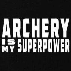 Archery Is My Superpower Kids Dark T-Shirt for