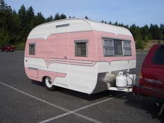 Maybe since its a camper my husband wouldn't care it was pink :)