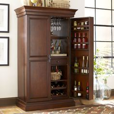 seaton flip-top bar cabinet | bars | raymour and flanigan