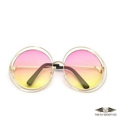 Fly Sunnies v.38 | Fashionable Round Frame Sunglasses $24.99  https://theflysociety.co/collections/sunglasses