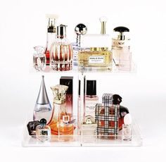 2 Tier Perfume Storage Tray, Acrylic Makeup Organizer Perfume Organizer by TheBeautyCubeShop on Etsy https://www.etsy.com/listing/280586540/2-tier-perfume-storage-tray-acrylic