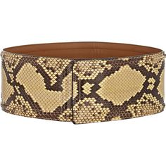 Marni Python Wide Belt ($209) ❤ liked on Polyvore featuring accessories, belts, black, snake skin belt, marni, leather snap belt, real leather belts and snakeskin belt