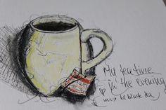 scrapmanufaktur - Stephanie Schütze  sketch mit black pen und big brush  - Art Jornaling