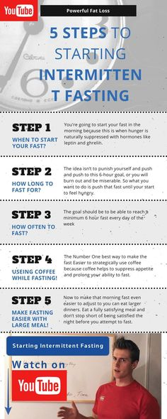 Intermittent fasting for beginners: https://www.youtube.com/watch?v=FZ4UDR4RbM8