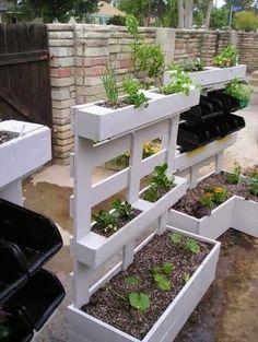 Jardinera con tarimas