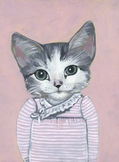 Elise - A Cat in Clothes - Fine Art Giclee Print