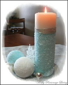 Thrifty Parsonage Living: DIY Epsom Salt Ornaments and Candle. So doing this Friday. Christmas Balls, Christmas Holidays, Christmas Ornaments, Christmas Ideas, Merry Christmas, Christmas Candle, Holiday Ideas, Homemade Christmas Decorations, Xmas Decorations