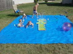 Cool DIY Splash Pad For Your Little Ones' Outdoor Swim Party | Kidsomania