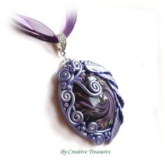 Polymer Clay Sculpted Pendant £16.00