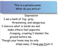 persona poetry - Google Search
