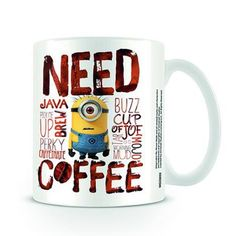Need Coffee Minions Mug