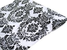 "Dual-Tone Edition Flocking Fabric Bolt 54"" x 10 Yards - Black / White $39.99 per bolt"