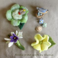 Needle felted brooch- each sold individually