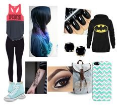 """""""Going to school"""" by cmsvball19 on Polyvore featuring Converse, Aéropostale, Casetify, B. Brilliant, women's clothing, women's fashion, women, female, woman and misses"""