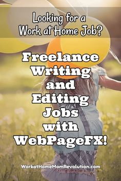 WebPageFX is seeking freelance writers and copy editors. They are specifically seeking writers looking for a long-term freelance relationship! Awesome work at home opportunity for writers or editors! A variety of work from home is available from the compa Work From Home Moms, Make Money From Home, Way To Make Money, Online Writing Jobs, Freelance Writing Jobs, Home Based Jobs, Legitimate Work From Home, Work From Home Opportunities, Making Ideas