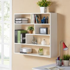 Danya B™ Large Rectangular White Shelf Unit
